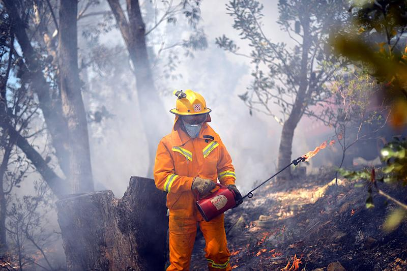 Pictured: Volunteer firefighter. Image: Getty
