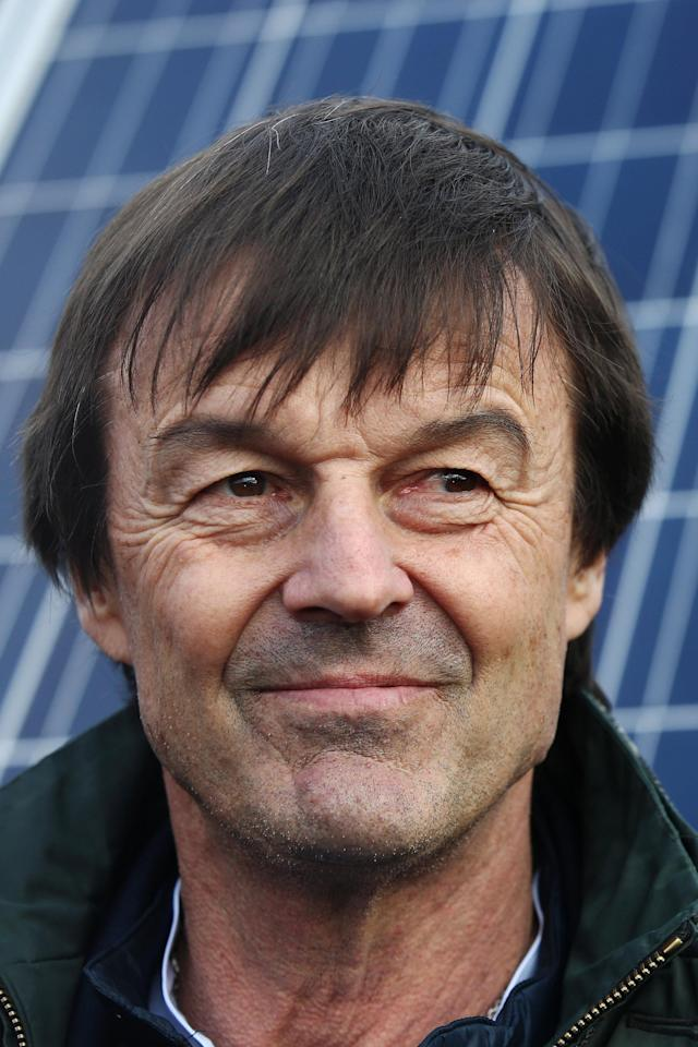 French Minister for Ecological and Inclusive Transition Nicolas Hulot attends a visit at a photovoltaic power plant in Allonnes near Le Mans, France January 8, 2018. REUTERS/Stephane Mahe