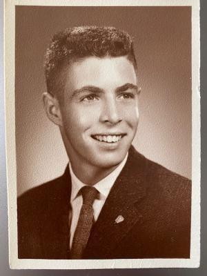 Photo of John Harper high school graduation picture from 1960.