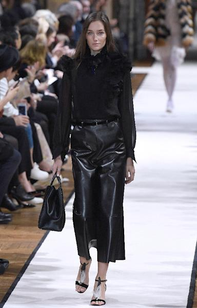 Lanvin goes for black leather (AFP Photo/bertrand GUAY)