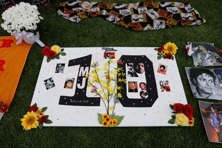 Fans gather at Forest Lawn Cemetery ten years after the death of child star turned King of Pop, Michael Jackson, in Glendale, California