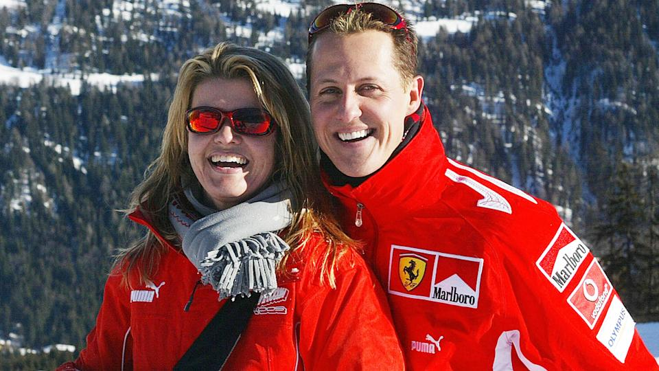 Michael and Corrina Schumacher, pictured here in Italy in 2005.