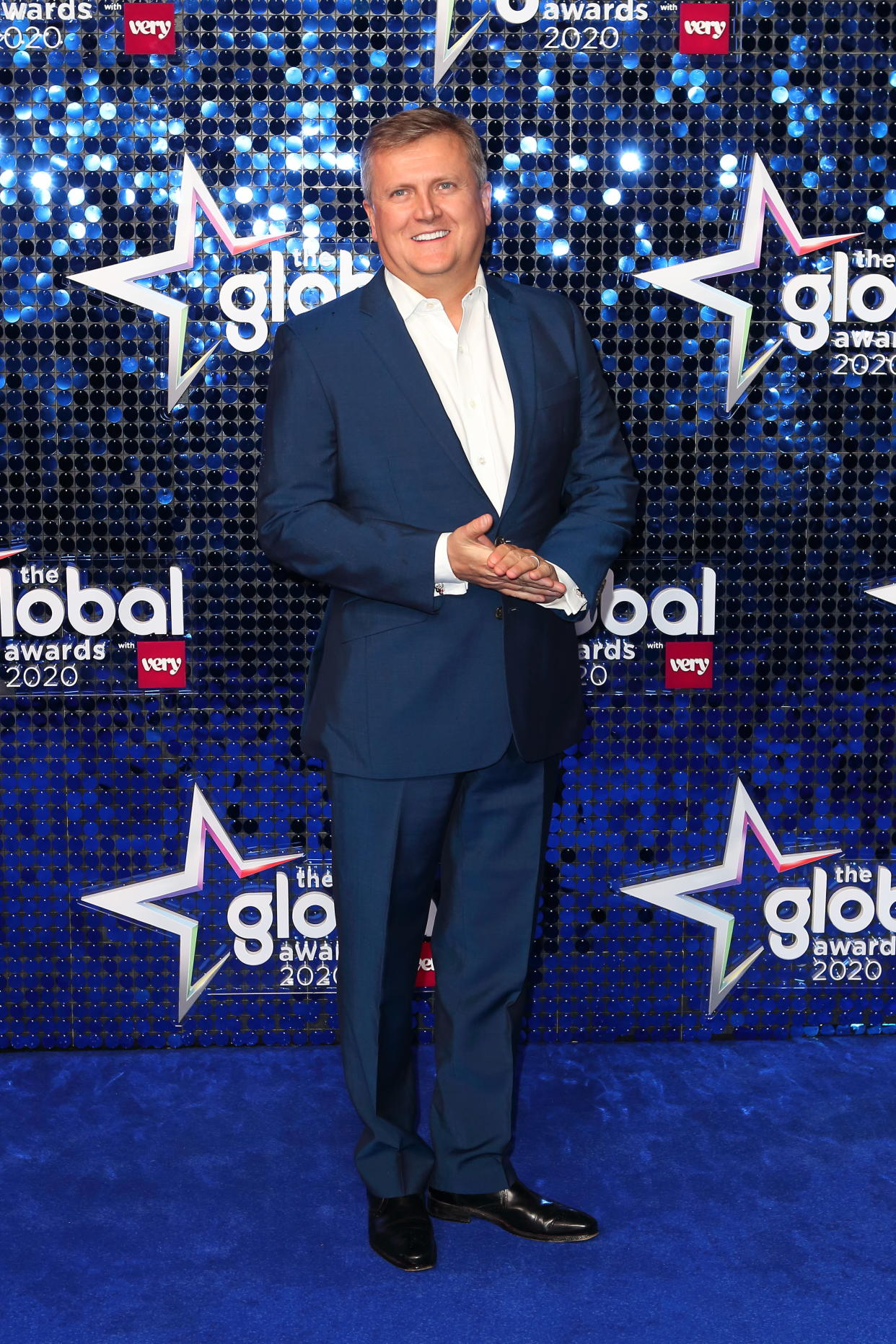 LONDON, UNITED KINGDOM - March 5, 2020 -  Aled Jones arrives at the Global Awards 2020, Hammersmith Apollo, London UK- PHOTOGRAPH BY Jamy / Barcroft Studios / Future Publishing (Photo credit should read Jamy/Barcroft Media via Getty Images)
