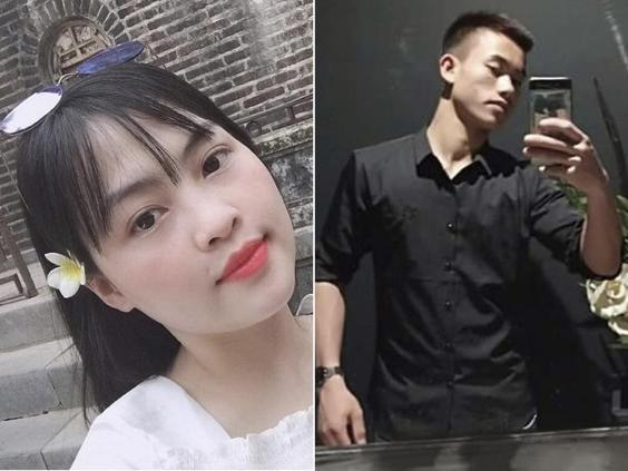 Pham Thi Tra My, 26, and Nguyen Dinh Luong, 20, were among the 39 victims (Hoa Nghiem/AP)