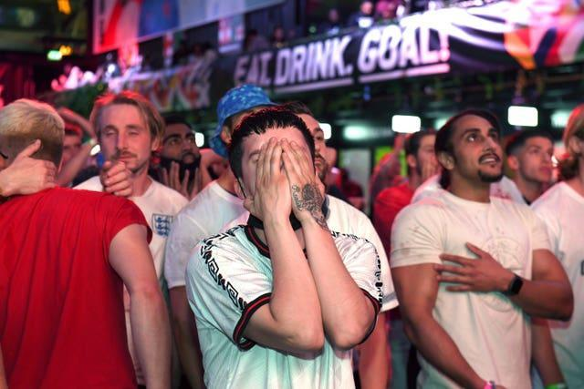 It was a different story for England fans in Croydon