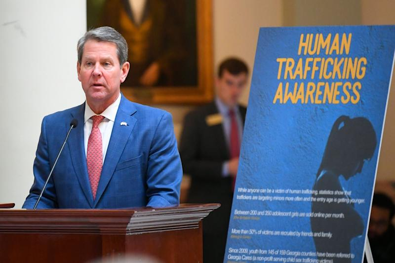 In January, Georgia Gov. Brian Kemp announced a statewide anti-trafficking campaign. While the state has conducted thousands of trainings and launched numerous public awareness campaigns related to the issue, basic services for survivors are chronically under-resourced. (Photo: ASSOCIATED PRESS)