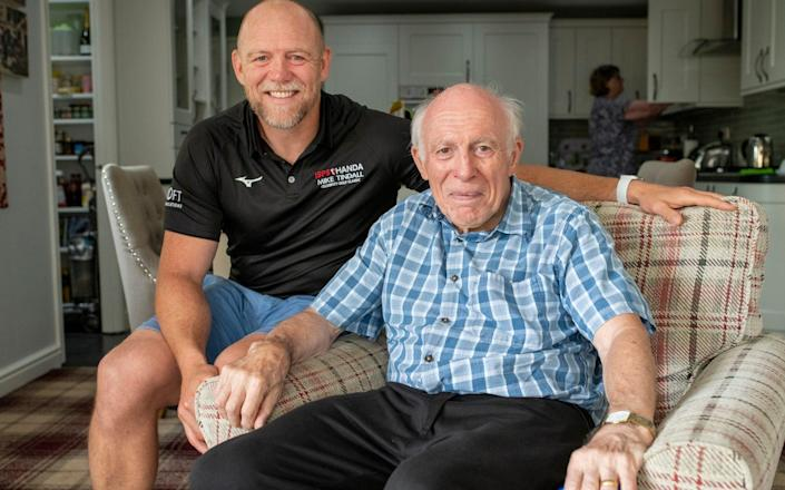 Mike Tindall with his father Philip - Geoff Pugh
