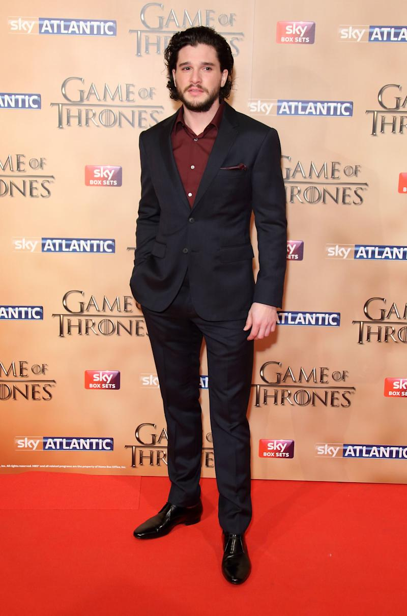 Kit Harington at the premiere of Game of Thrones season five in London, England, March 2015.