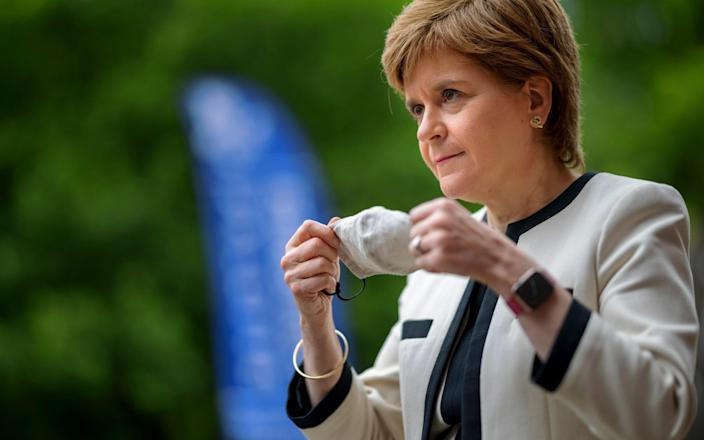 The skirmish with Andy Burnham has not turned out well for Sturgeon. - Rota