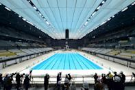 The Olympic-sized 50m pool has a design which can convert it into two 25m pools and change its depth for future events