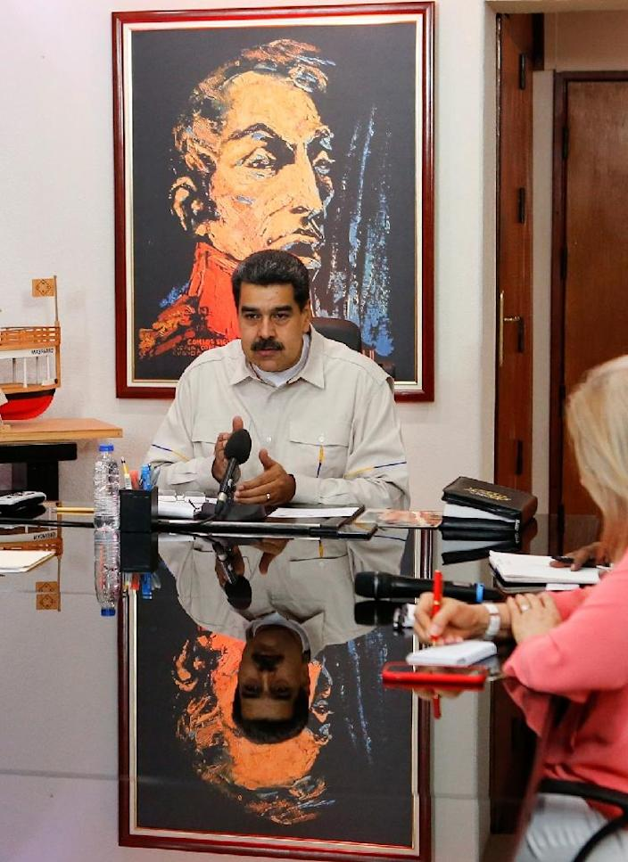 Venezuelan President Nicolas Maduro has replaced his energy minister in the wake of repeated power outages (AFP Photo/HO)