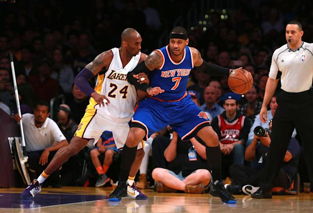 """Carmelo Anthony will miss the Trail Blazers' game against the Lakers on Friday due to """"personal reasons."""" (Victor Decolongon/Getty Images)"""