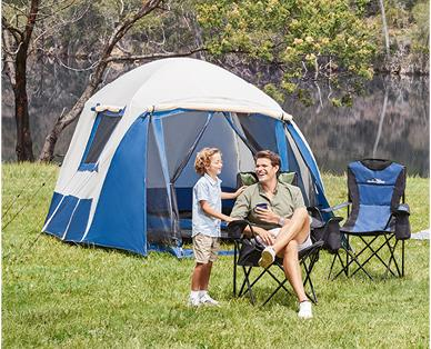Aldi is flogging this 4-person tent on Tuesday 24 December. Source: Aldi
