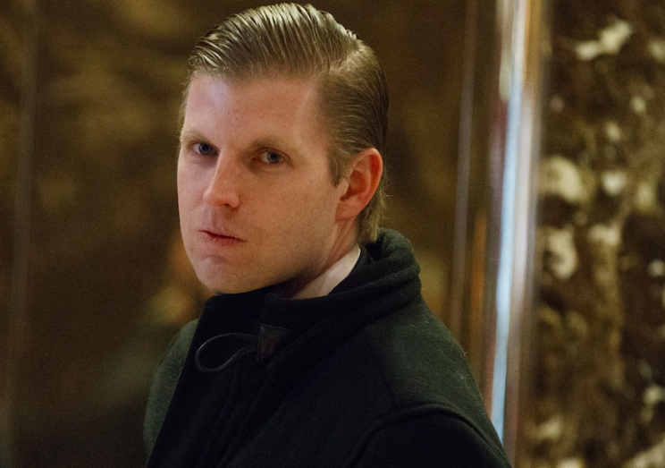 Eric Trump allegedly claimed that Russia was funding his father's golf courses (Rex)