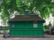 <p>The green Cabmen's Shelter is based in Grosvenor Gardens in Belgravia, London and now has a Grade II listing. (PA) </p>
