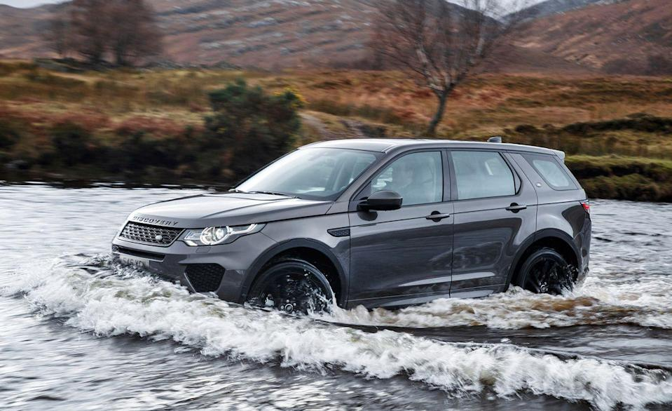 "<p>The <a href=""https://www.caranddriver.com/land-rover/discovery-sport"" rel=""nofollow noopener"" target=""_blank"" data-ylk=""slk:Discovery Sport"" class=""link rapid-noclick-resp"">Discovery Sport</a> is as close to being affordable as any Land Rover. And like the over Rovers, it combines luxury with off-road ability. It's not the company's most rugged product, but the Disco Sport has the ability to wade into water more than 23 inches deep. It also has an approach angle of up to 23.4 inches and a departure angle of 31 inches. Its standard all-wheel-drive system pairs with selectable drive modes that include settings for gravel, snow, mud, and sand. The ability to scale slopes up to 45 degrees along with gradient-release and hill-descent control are helpful, too. Discovery Sport models are available with a 2.0-liter turbocharged gas four rated at 246 horsepower. But the Discovery Sport R-Dynamic range topper can be had with a 286-hp version of the same powerplant.</p>"