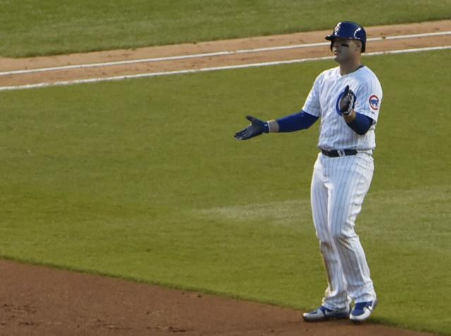Anthony Rizzo drove in the game-winning run against the Nats on Monday. (AP Photo/David Banks)