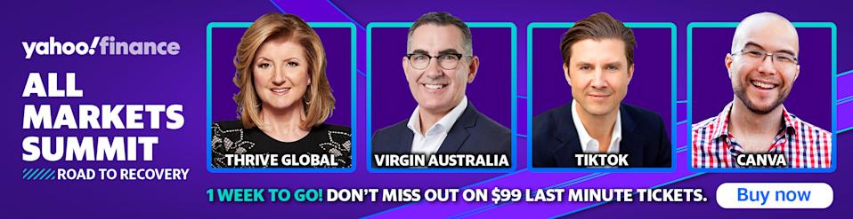 Yahoo Finance's All Markets Summit 2020 is on 17 September. Buy your tickets now.