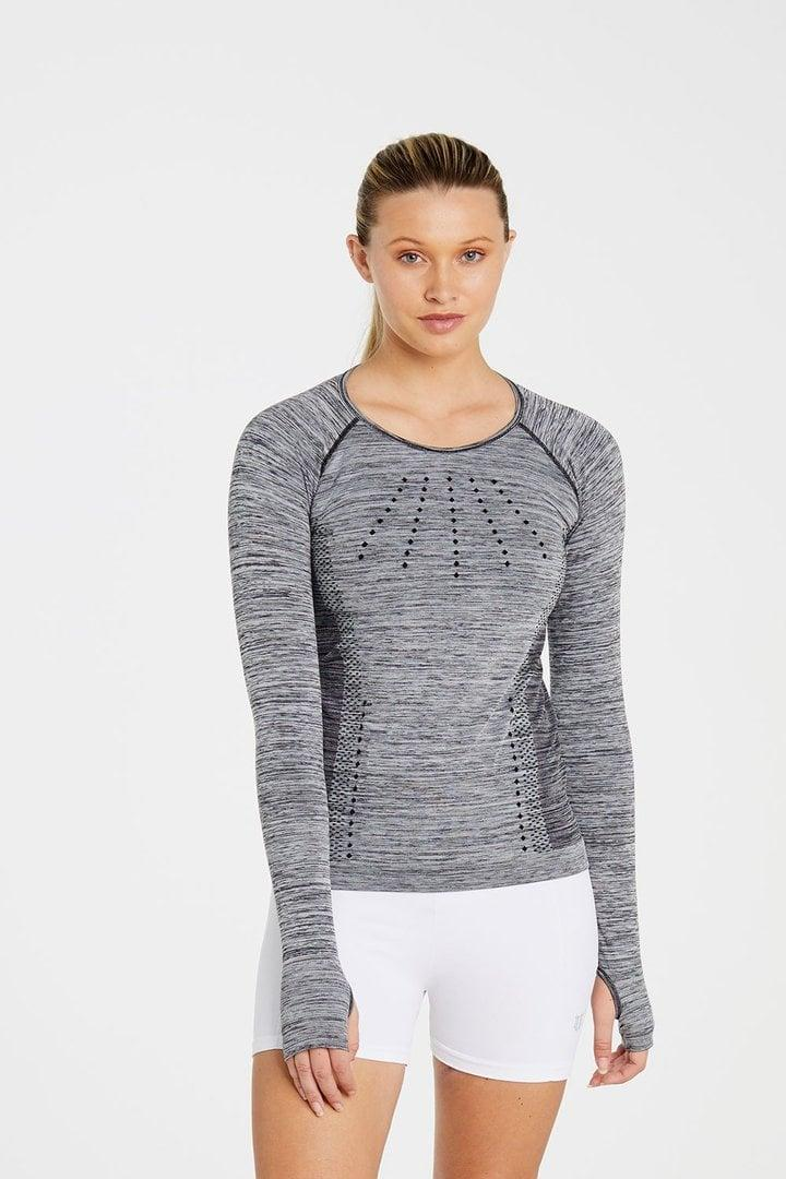 <p>When the Downward Dogs start flowing, you'll want a formfitting, long-sleeved shirt that doesn't fall over your head, so add the <span>EleVen by Venus Williams Absolute Long Sleeve</span> ($69) to your fall workout wardrobe. The top is made with a four-way stretch, quick-dry, breathable fabric that's actually perfect for all outdoor activities.</p>