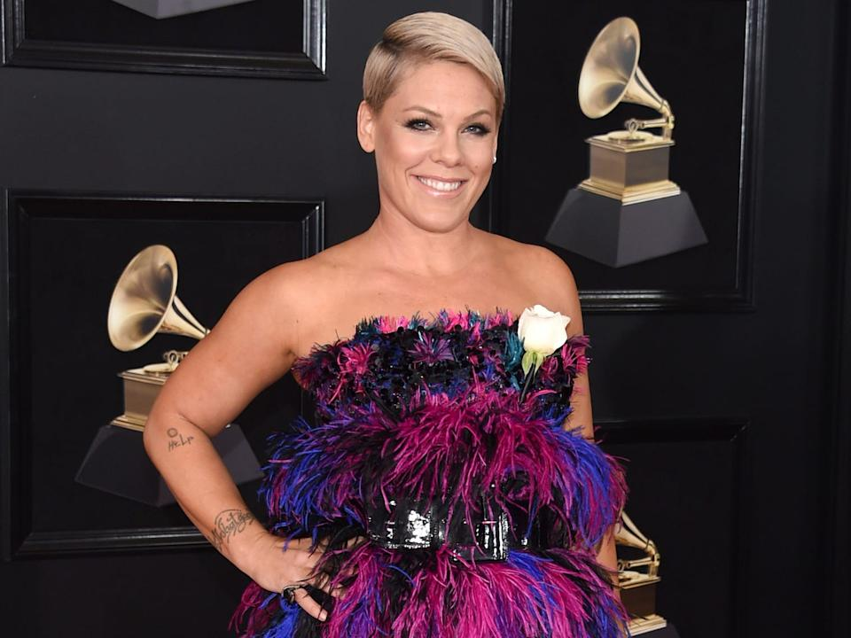 Pink, whose real name is Alecia Moore, tested positive for COVID-19.