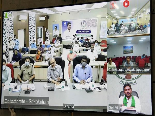 Visual of the review meeting on preparations to meet Cyclone Yaas