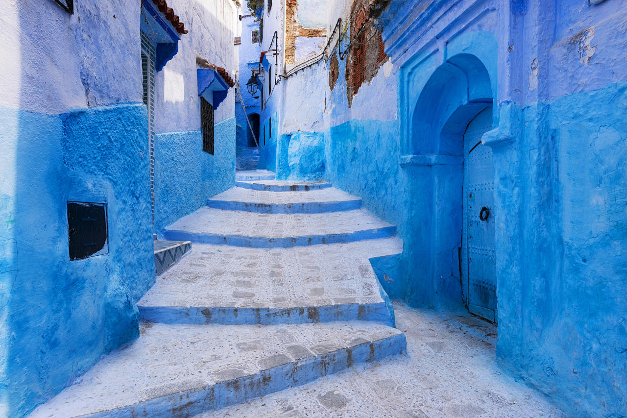 <p>For those dreaming of an other-worldy escape this winter, Chefchaouen in Morocco – aptly-dubbed the 'Blue City' – deserves to be at the top of your bucket list. With ocean-dipped buildings and winding cobbled streets, look no further for the most gram-worthy of locations. <em>[Photo: Getty]</em> </p>