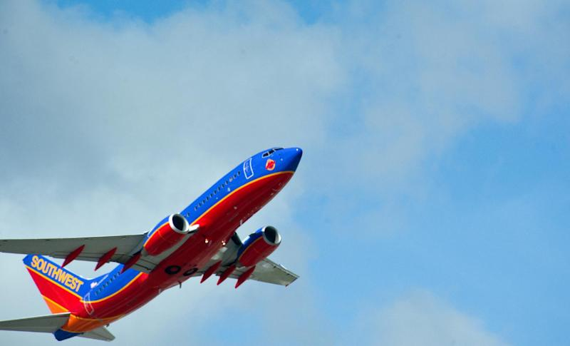 A Southwest Airlines jet takes off from Fort Lauderdale-Hollywood International Airport on February 21, 2013
