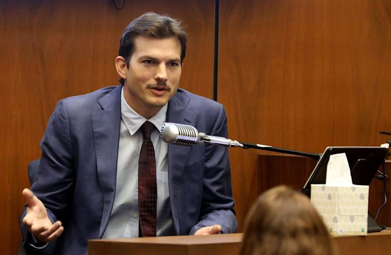 "Ashton Kutcher testifies in court in Los Angeles on May 29, 2019, during the trial of People v Michael Thomas Gargiulo, also known as ""The Hollywood Ripper."" (Photo: Frederick M. BROWN / POOL / AFP)"