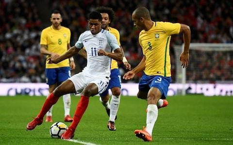 <span>Marcus Rashford showed flashes of skill on the few instances he managed to get on the ball</span> <span>Credit: REUTERS </span>
