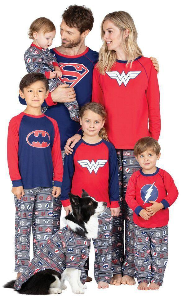"""<p>pajamagram.com</p><p><strong>$19.99</strong></p><p><a href=""""https://www.pajamagram.com/matching-family-pajamas/justice-league/justice-league-matching-family-pajamas/GFS017462.html"""" rel=""""nofollow noopener"""" target=""""_blank"""" data-ylk=""""slk:Shop Now"""" class=""""link rapid-noclick-resp"""">Shop Now</a></p><p>Who says you have to stop dressing up once Halloween night is over? The fun designs on these superhero-inspired outfits makes it hard to tell whether they are, in fact, PJs or Halloween costumes. </p>"""