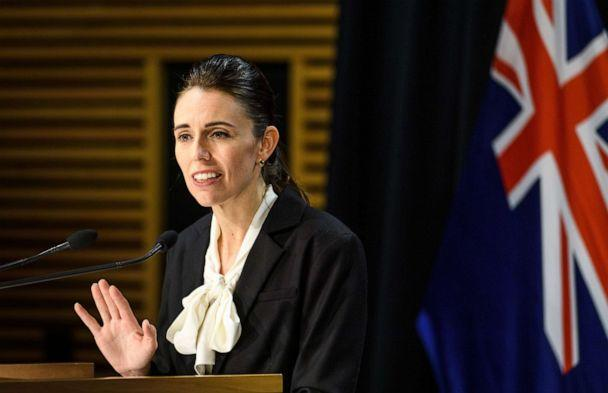 PHOTO: Prime Minister Jacinda Ardern speaks with journalists on August 13, 2020, in Wellington, New Zealand. (Mark Tantrum/Getty Images)