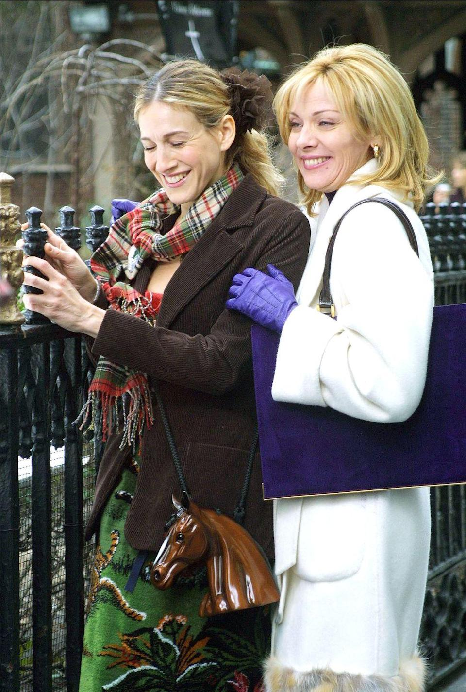"""<p>In an <em><a href=""""https://www.etonline.com/kim-cattrall-on-why-fans-still-want-more-sex-and-the-city-films-exclusive-130095"""" rel=""""nofollow noopener"""" target=""""_blank"""" data-ylk=""""slk:Entertainment Tonight"""" class=""""link rapid-noclick-resp"""">Entertainment Tonight</a> </em>interview for her new series, <em>Filthy Rich</em><em>, </em>Cattrall was asked why people still hunger for <em>Sex and the City</em>.</p><p>""""What I think people love about shows like <em>Sex in the City</em> and <em>Filthy Rich</em> is strong characters,"""" she said. """"You know, real strong characters. And this is a new chapter, this is another strong character. So I'm really enjoying that.""""</p>"""