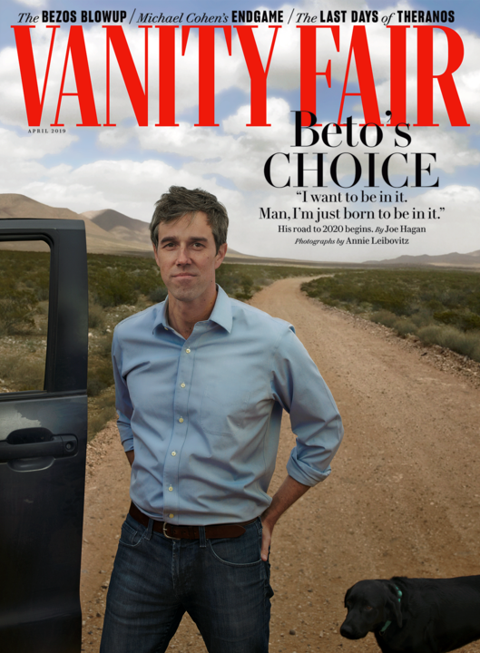 O'Rourke is on the cover of Vanity Fair's April issue. (Vanity Fair)