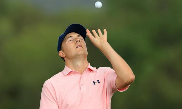 "<span class=""element-image__caption"">Jordan Spieth, pictured at last week's WGC Match Play in Austin, had a second-round 77 in Houston to miss the cut before next week's Masters.</span> <span class=""element-image__credit"">Photograph: Richard Heathcote/Getty Images</span>"