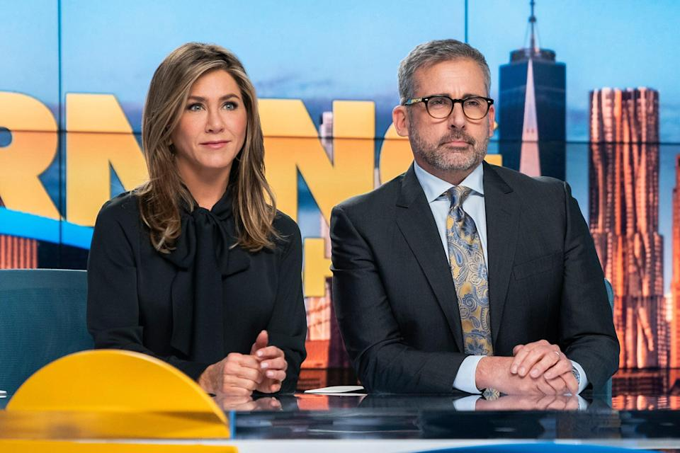 Jennifer Aniston and Steve Carell in The Morning Show (Photo: Apple)