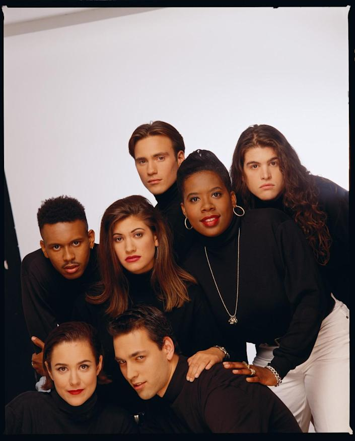 "A 1992 cast photo of ""The Real World."""