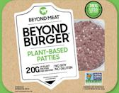 """<p><strong>Serving size:</strong> 1 patty<br> <strong>Calories:</strong> 260<br> <strong>Carbs:</strong> <a href=""""https://www.beyondmeat.com/products/the-beyond-burger/"""" class=""""link rapid-noclick-resp"""" rel=""""nofollow noopener"""" target=""""_blank"""" data-ylk=""""slk:5 grams"""">5 grams</a><br> <strong>Protein:</strong> 20 grams</p>"""