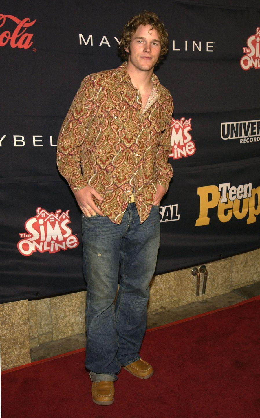 <p>Before he was a movie star, Chris was just a guy who showed up to an event honoring Nelly wearing a paisley button-down and relaxed-fit jeans.</p>