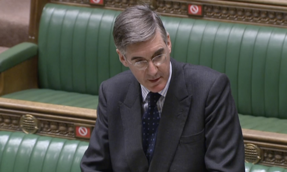 Jacob Rees-Mogg is facing an angry backlash after he criticised Unicef for 'playing politics'. (Parliamentlive.tv)