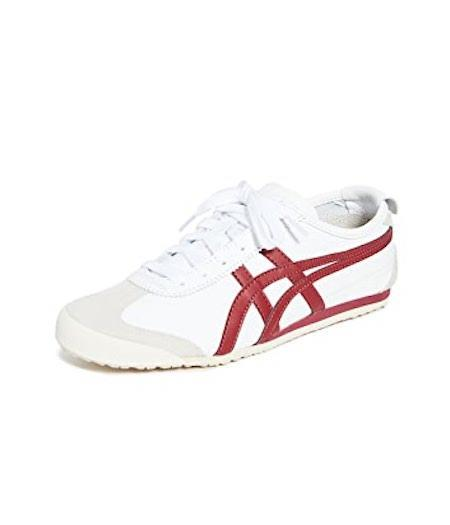 red and white sneakers