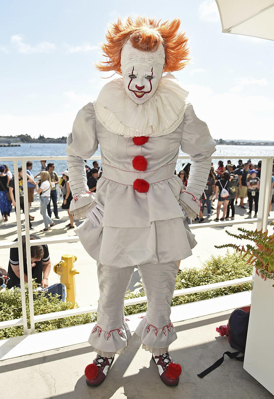 <p>Juliana Bove, of San Diego, dressed as Pennywise from the film <em>It</em>, at Comic-Con International on July 20, 2018, in San Diego. (Photo by Richard Shotwell/Invision/AP) </p>