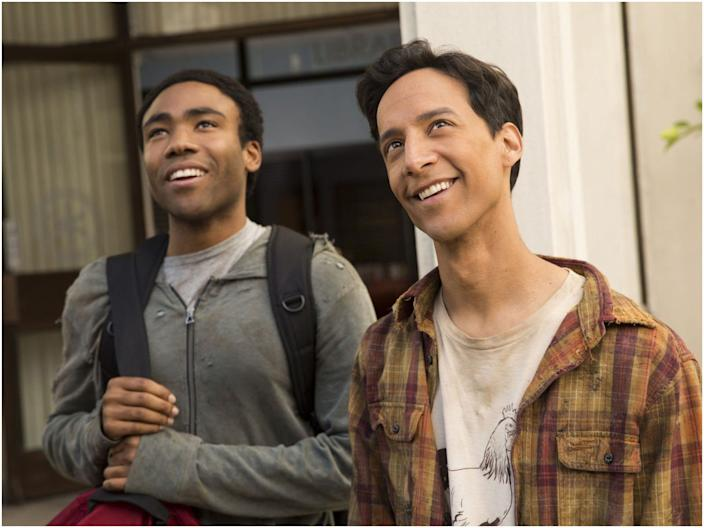 """""""Community"""" stars Joel McHale, Alison Brie, Donald Glover, and Ken Jeong. <p class=""""copyright"""">Sony Pictures Television</p>"""