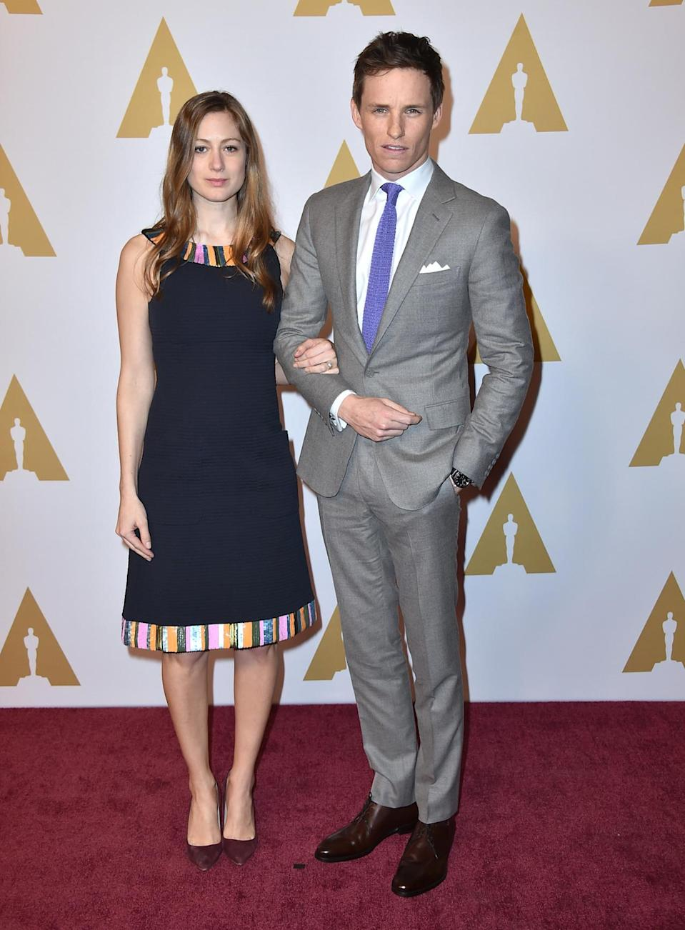 """<p>""""It's an evening event and yet it seems to take such a long time,"""" laughed Redmayne said of the Oscars. """"I think it'll be a calm day. Hopefully it'll be sunny. Last year, it was pouring with rain. I keep promising Hannah whenever we come to LA that it's going to be sunnier. Hopefully it'll be sunny and we'll have a gentle day and try and relax and enjoy it. Rather than last year, I think I was a frenzy of nerves."""" Might he have a glass of Champagne to prepare? """"Yes! Several!"""" he concluded.</p><p><i>Photo: AP</i><br></p>"""