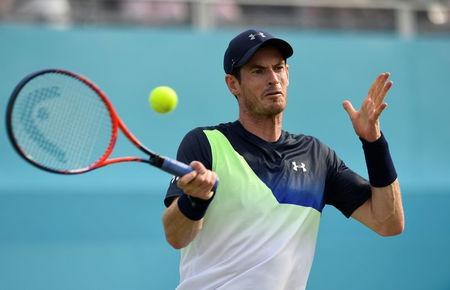 Tennis - ATP 500 - Fever-Tree Championships - The Queen's Club, London, Britain - June 19, 2018   Great Britain's Andy Murray in action during his first round match against Australia's Nick Kyrgios   Action Images via Reuters/Tony O'Brien