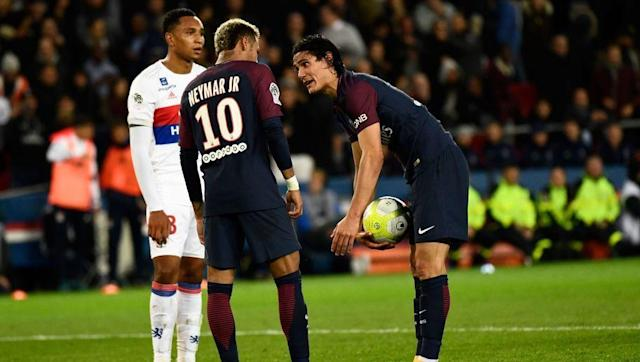 """<p>Neymar said after his move to French giants Paris Saint-Germain in the summer that he had not joined the club in order to become the star man. However, <a href=""""http://www.90min.com/posts/5554982-video-trouble-in-paradise-as-psg-look-to-have-a-rivalry-problem-between-neymar-cavani"""" rel=""""nofollow noopener"""" target=""""_blank"""" data-ylk=""""slk:judging by his antics"""" class=""""link rapid-noclick-resp"""">judging by his antics</a> at the weekend, that is clearly a fib. </p> <br><p>Not only did Neymar want Edinson Cavani to give up his penalty duties during the 2-0 win over Lyon, Dani Alves also stepped in to nick the ball away from the Uruguayan and hand it to his former Barcelona teammate for a free-kick.</p> <br><p>While the trio of Neymar, Cavani and Kylian Mbappe is shaping up to be an incredibly threatening one, there is obviously a bit of tension between the club's top players.</p>"""