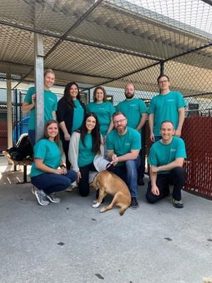 OnPoint employees volunteering at the Oregon Human Society.