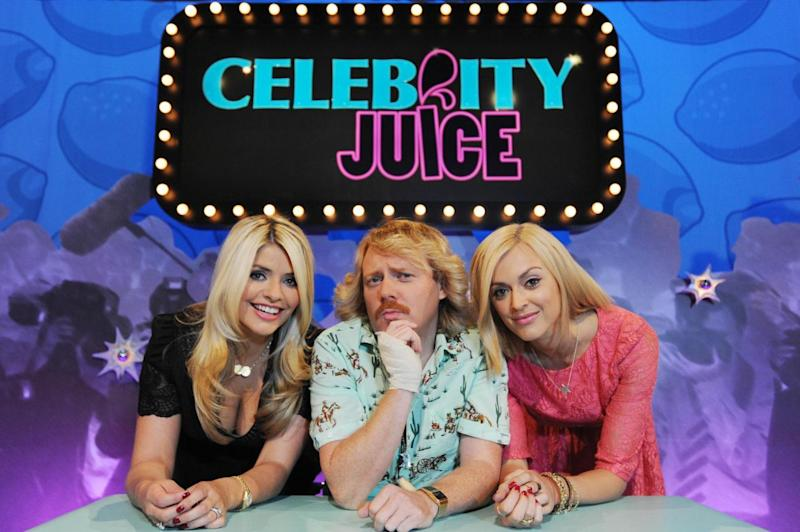 Having a laugh: Keith Lemon with Holly Willoughby and Fearne Cotton (ITV)