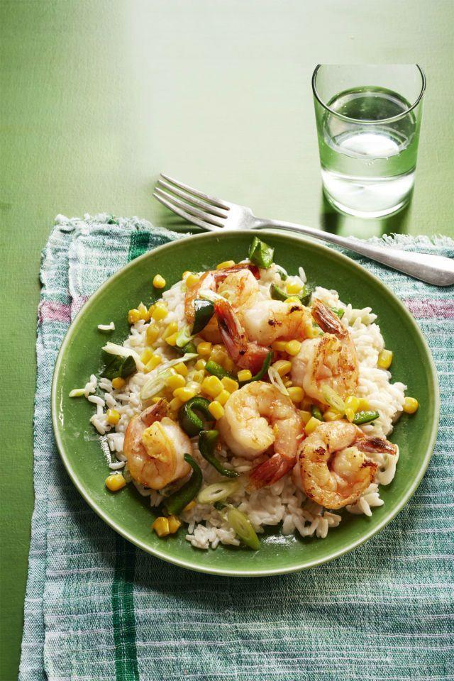 "<p>Velvety sour cream makes this nutritious dish feel like a guilty pleasure.</p><p><a href=""https://www.womansday.com/food-recipes/food-drinks/recipes/a56180/sauteed-shrimp-poblanos-and-corn-with-creamy-rice-recipe/"" rel=""nofollow noopener"" target=""_blank"" data-ylk=""slk:Get the recipe."" class=""link rapid-noclick-resp""><strong>Get the recipe.</strong></a></p>"