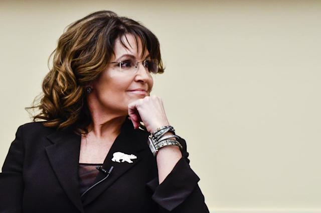Sarah Palin says that comedianSacha Baron Cohen tricked her into an interview by posing as a disabled U.S. veteran. (Photo: Getty Images)