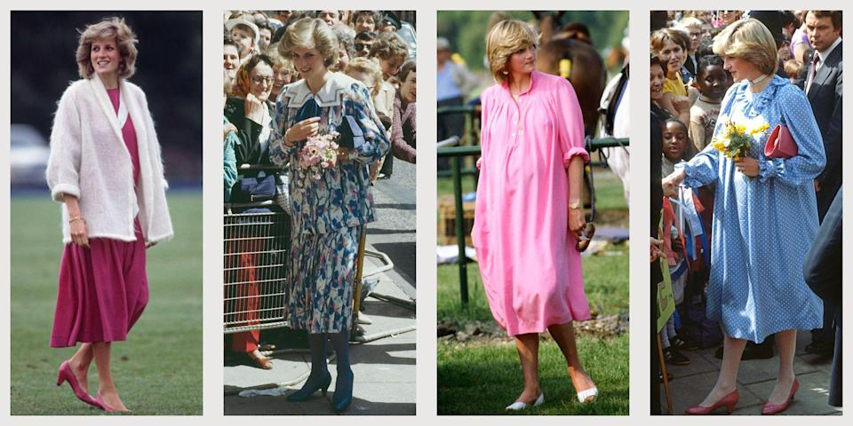 "<p class=""body-dropcap"">The Princess of Wales was still new to her position as a senior working royal when she began her first pregnancy, having <a href=""https://www.townandcountrymag.com/the-scene/weddings/a18205641/princess-diana-prince-charles-wedding/"" rel=""nofollow noopener"" target=""_blank"" data-ylk=""slk:tied the knot with Prince Charles"" class=""link rapid-noclick-resp"">tied the knot with Prince Charles</a> just months before. Still, she navigated her royal maternity style like a pro, seamlessly transitioning from her regular wardrobe to her new one—and two years later, when she had another go at maternity fashion, it was even more refined. Below, ten of Princess Diana's best maternity outfits.</p>"